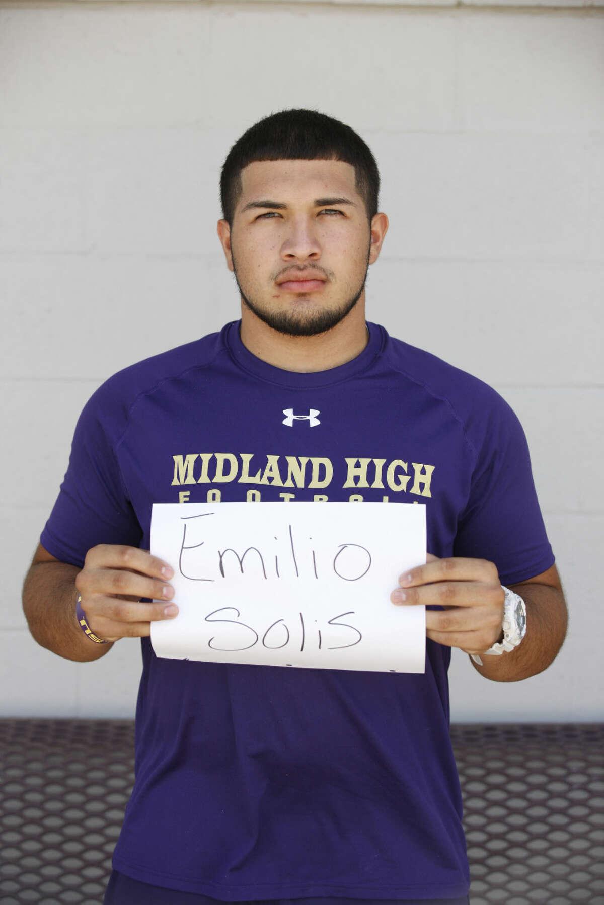 Midland High Varsity Football mug Emilio Solis