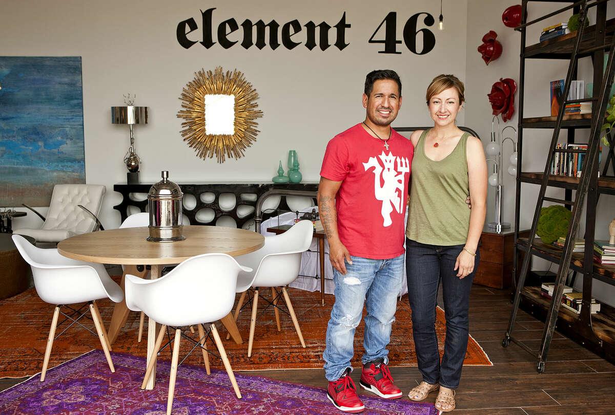Artist Jonah LaMonica stands with his wife Courtney at their studio Wednesday, May 13, 2015 at Palladium Arts Studio. James Durbin/Reporter-Telegram