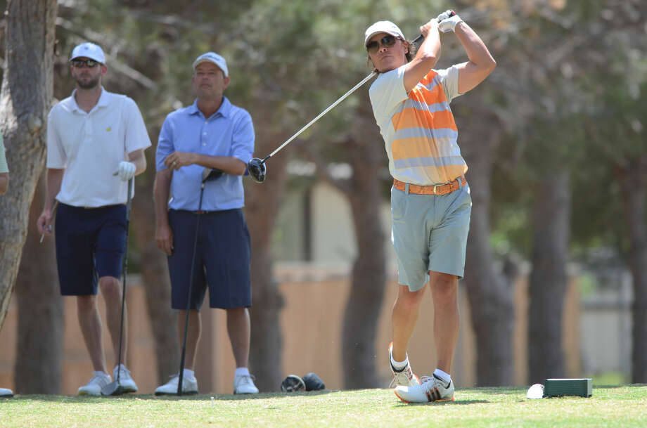 Shawn Savage tees off during the Stampede Golf Tournament on Friday, May 15, 2015, at Ranchland Hills Golf Club. James Durbin/Reporter-Telegram Photo: James Durbin