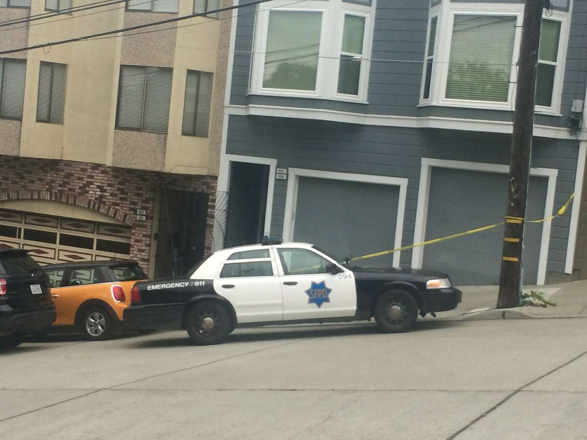 San Francisco police cordoned off a home in the 400 block of Arkansas Street in the Potrero Hill neighborhood as they investigatedthe fatal stabbing ofMarla Zamora.