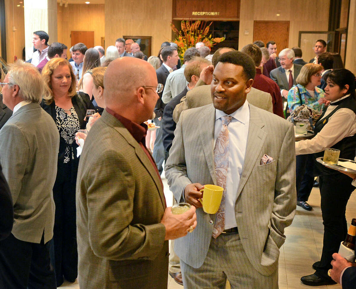 Texas A&M head football Kevin Sumlin speaks with supporters Wednesday, May 20, 2015, at the Petroleum Club. James Durbin/Reporter-Telegram