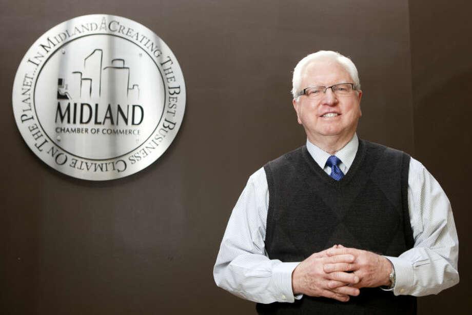 Bobby Burns, president of the Midland Chamber of Commerce, in portrait Feb. 12, 2014 at the Chamber offices. James Durbin/Reporter-Telegram Photo: JAMES DURBIN
