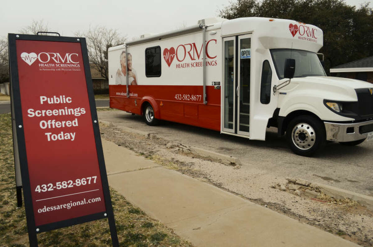 The Odessa Regional Medical Center Mobile Screening bus offers a variety of heart disease tests on site. Tim Fischer\Reporter-Telegram