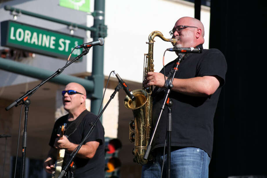 The Rock Island Rollers perform during the 2014 Tall City Blues Fest. Photo: MARY POWERS