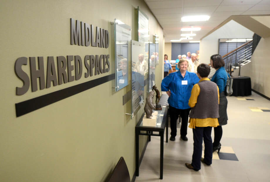 Reception to showcase local art from associations such as ArtiZen, Art Quest, Midland Arts Association and Midland Palette Club on display throughout the Midland Shared Spaces building, Thursday, March 19, 2015. James Durbin/Reporter-Telegram Photo: James Durbin