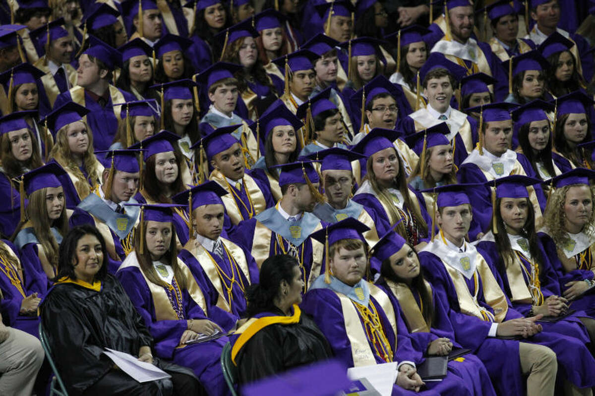Midland High School graduation ceremony, May 31, 2014, at Chaparral Center. James Durbin/Reporter-Telegram