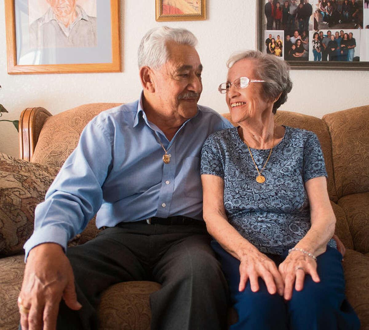 Robert and Ofelia Kirker speak at their home in Las Cruces, N.M., on May 27.