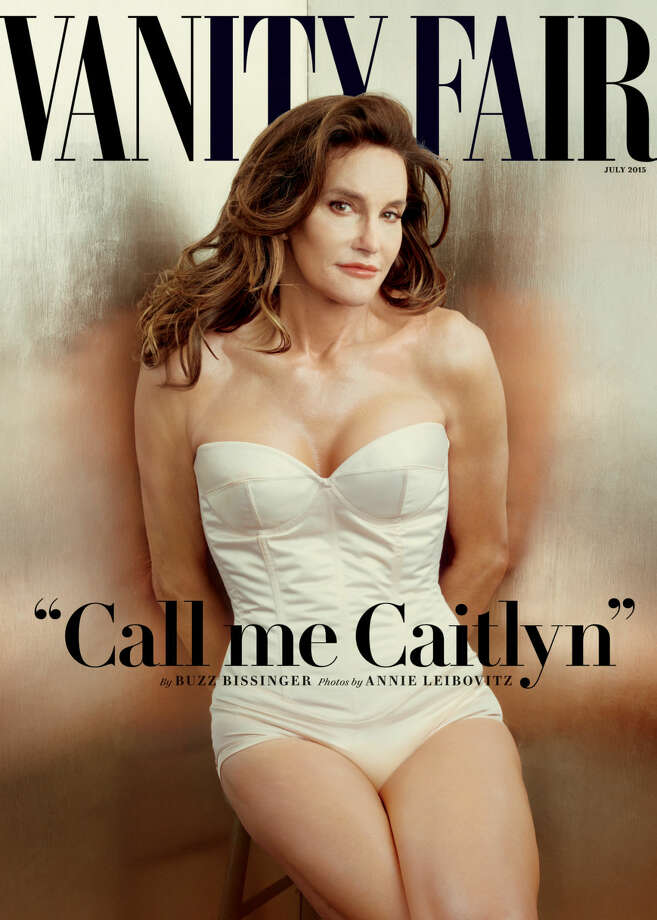 This photo taken by Annie Leibovitz exclusively for Vanity Fair shows the cover of the magazine's July 2015 issue featuring Bruce Jenner debuting as a transgender woman named Caitlyn Jenner. (Annie Leibovitz/Vanity Fair via AP) Photo: Annie Leibovitz
