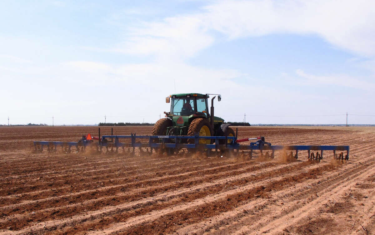 FILE - In this May 30, 2014 file photo, a West Texas cotton grower tills a field north of Lubbock, Texas. (AP Photo/Betsy Blaney, File)