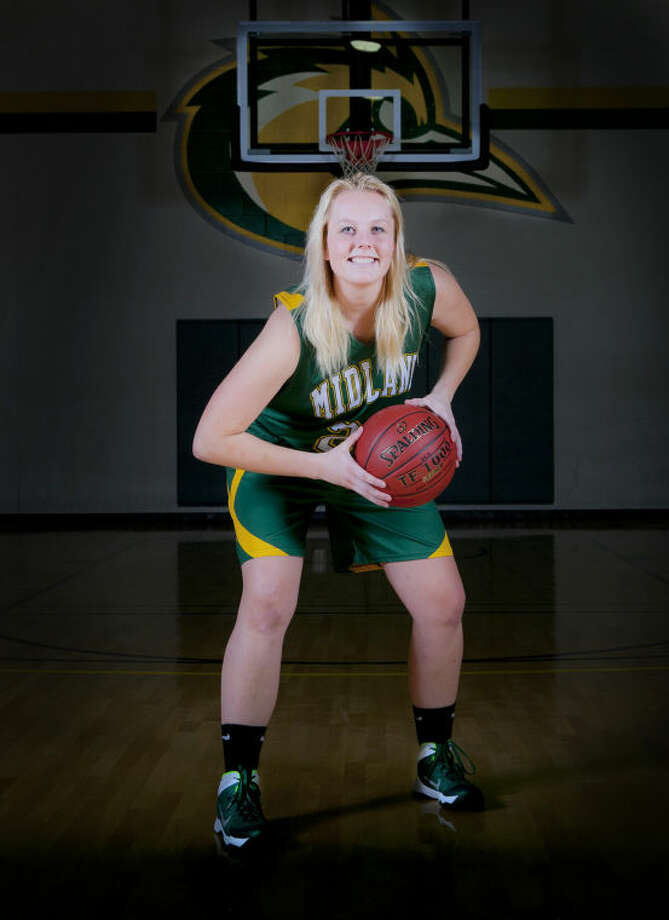 Midland College women's basketball forward Catherine Kruschke poses for a portrait Oct. 23, 2013 at Midland College. James Durbin/Reporter-Telegram Photo: JAMES DURBIN