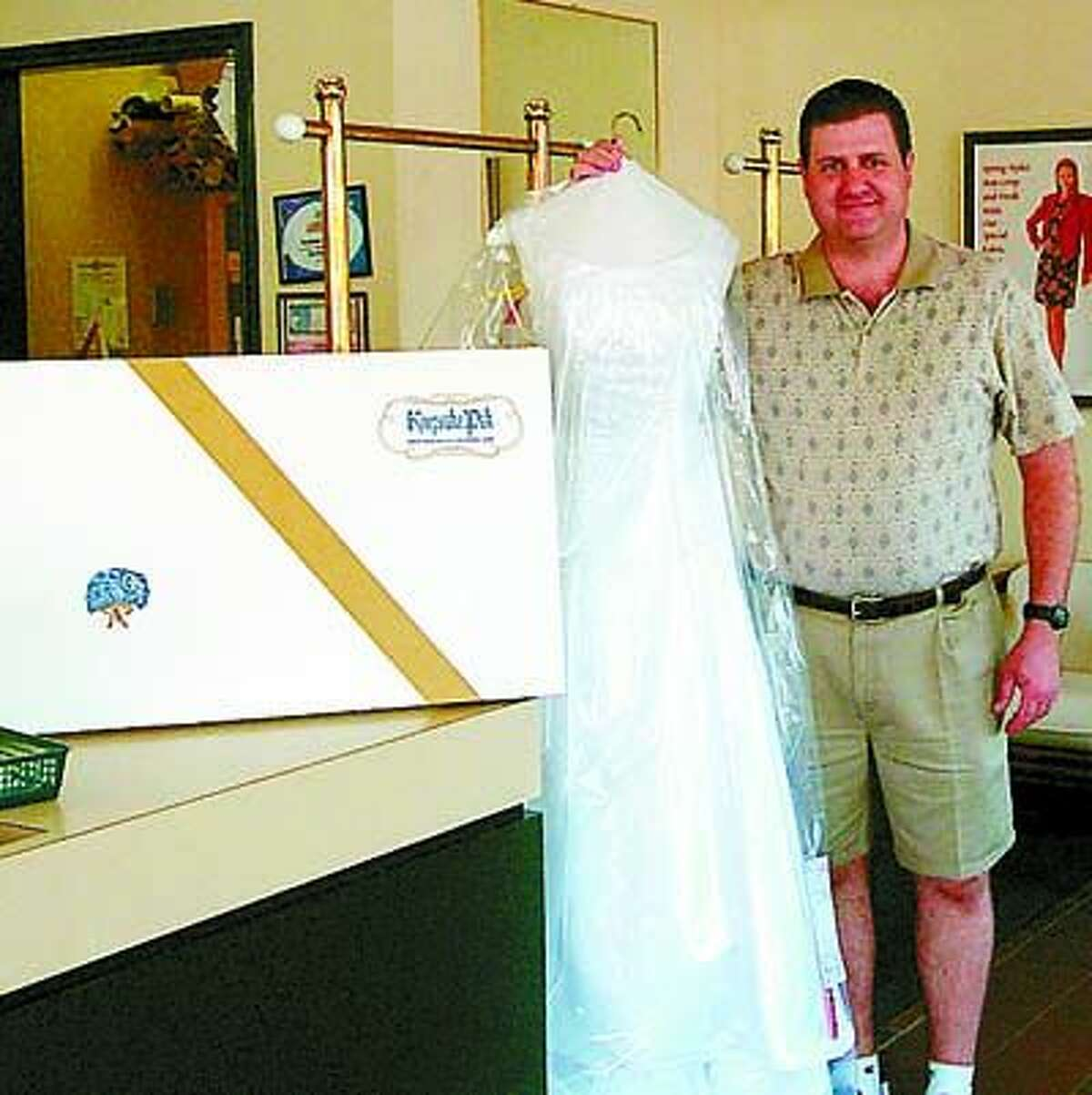 Preserve your memories by letting Fashion Cleaners heirloom your wedding gown.