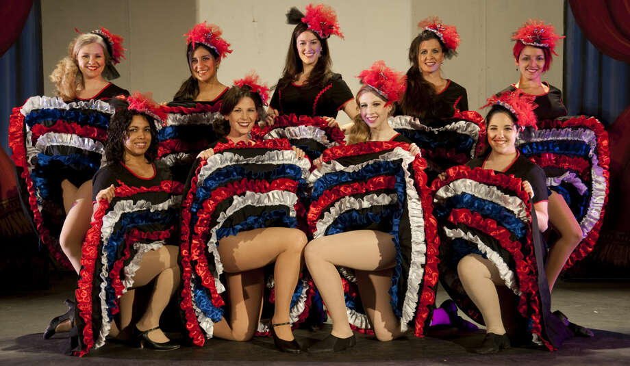 Summer Mummers Dancers; back row Misti Ray, Yaritza Balfier, Alayne Armstrong, Kyndall Leone and Ashley Tate, front, Eliana Arnold, Marcy Neely, Caitlin Miles and Morgan Permenter. Photo: Tim Fischer