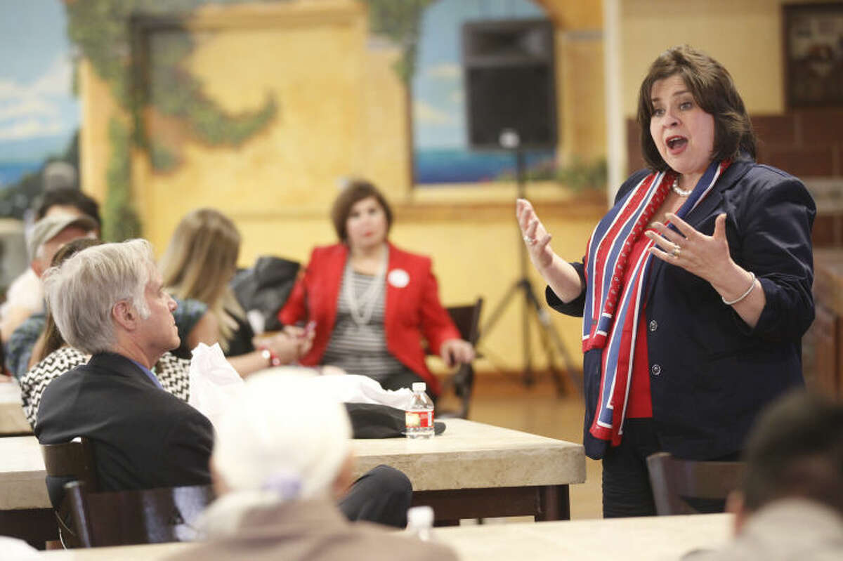 Leticia Van de Putte held a meet and greet at Martinez Bakery on Tuesday while on a campaign to run for Lieutenant Governor. James Durbin/Reporter-Telegram