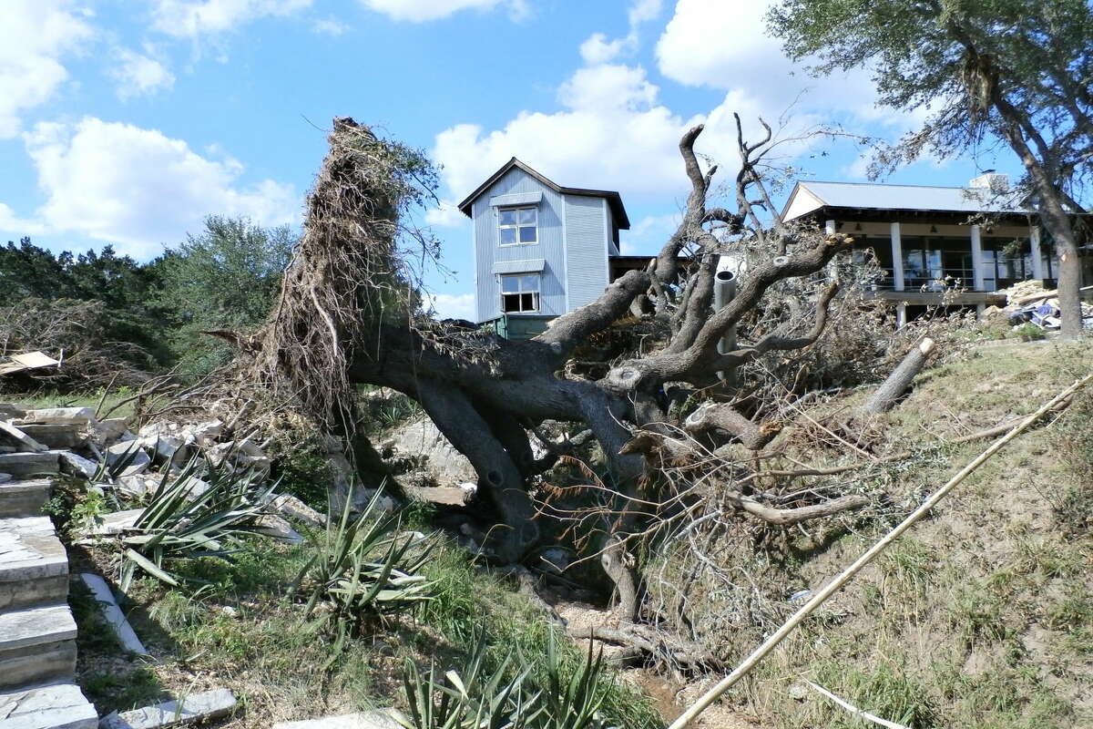 Midland building official Steve Thorpe spent earlier this week inspecting homes and other buildings damaged in the flood that hit Wimberley on Memorial Day. Photo courtesy of Steve Thorpe.