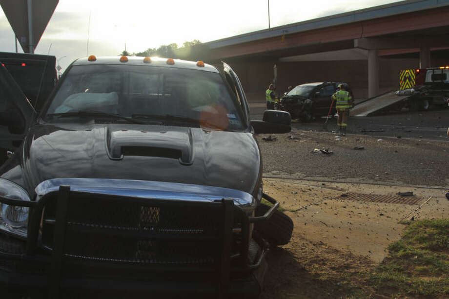 Three people were transported with non-life-threatening injuries to Midland Memorial Hospital Wednesday following a two-vehicle crash on Lamesa Road near Loop 250. Tyler White/Reporter-Telegram Photo: Tyler White