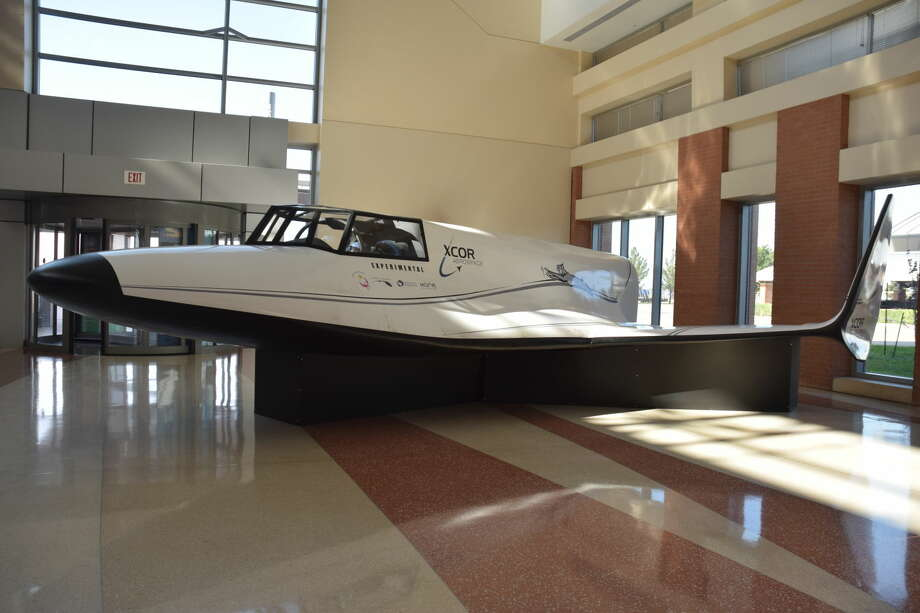 A mock-up of XCOR Aerospace's Lynx spacecraft is now on display at the lobby of Midland International Air & Space Port's terminal.