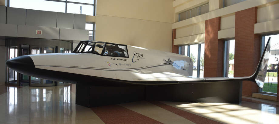 A mock-up of XCOR Aerospace's Lynx spacecraft is now on display at the lobby of Midland International Air & Space Port's terminal. Photo: Rye Druzin/Reporter-Telegram