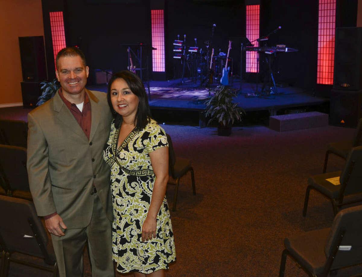 Pastor Chris Cochran and his wife, Marisa, with Faith Foundation International Church. Tim Fischer\Reporter-Telegram