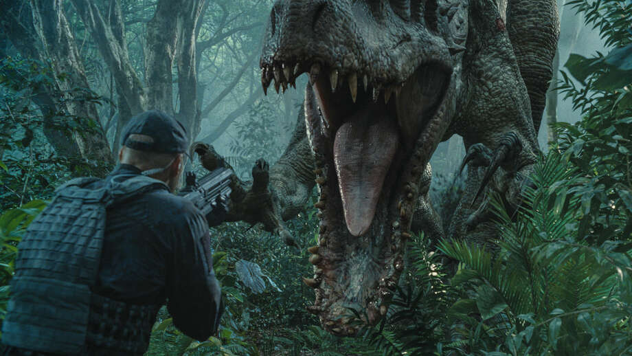 "A scene from ""Jurassic World."" (Image courtesy Universal Pictures) Photo: Universal Pictures"