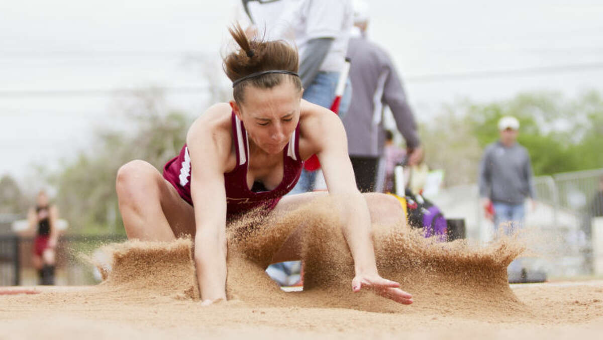 """Event: Long JumpDistrict result: 2nd, 16 feet, 7 1/4 inchesArea result: 1st, 16-3 3/4Lee coach Mike Connelly on Rackow: """"She's got to be able to go up there and compete and be able to handle the regional pressure and just relax. She has to do really good, and will probably have to (personal record) to make the finals. That's the good thing about being a sophomore, she's got the opportunity to compete against some really good people. That's the very best thing about it for her."""""""