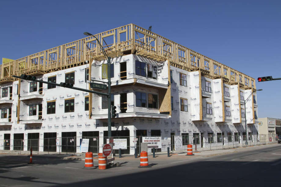 This file photo shows Wall Street Lofts under construction. Photo: Tyler White