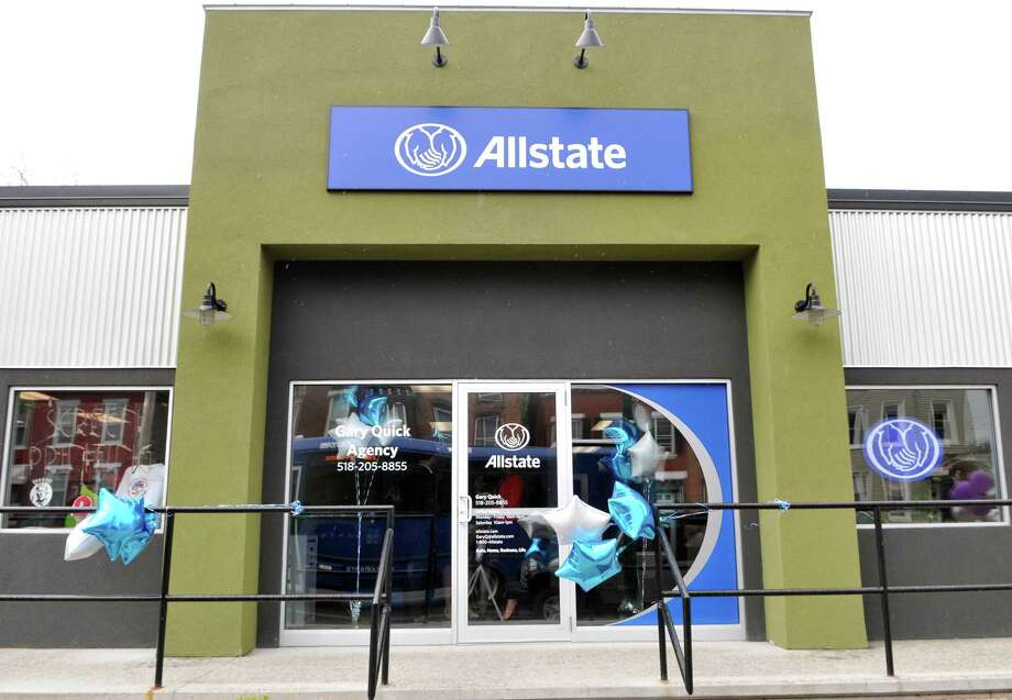 Exterior of Allstate Insurance at 362 Congress Street Plaza which opened on Friday, May 6, 2016, on Congress Street in Troy, N.Y. The stores opening are Allstate Insurance, Trixie's Hair Studio, Screen-it Ltd. and Dunkin' Donuts. (Brittany Gregory / Special to the Times Union)