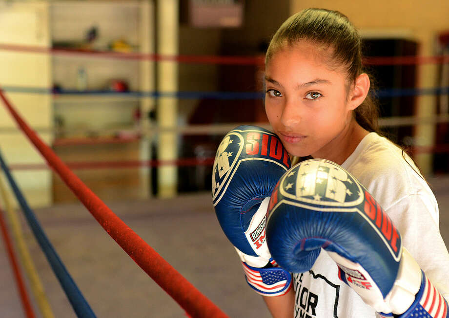 Britney Jenkins in portrait Tuesday, June 16, 2015 at the Clayton Williams Boxing Center. James Durbin/Reporter-Telegram Photo: James Durbin