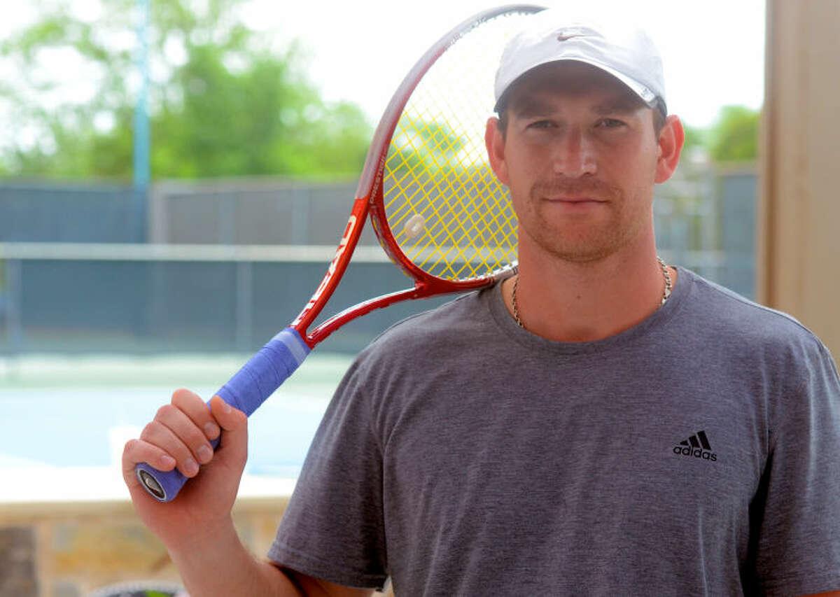 Vlad Bondarenko, photographed Saturda at the Midland Racket Club. James Durbin/Reporter-Telegram