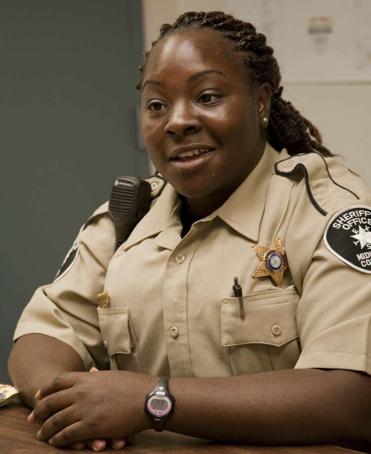 Midland native Kim Mayfield, the first female African-American Sheriff Deputy. Thursday, 6-18-15, Tim Fischer\Reporter-Telegram Photo: Tim Fischer