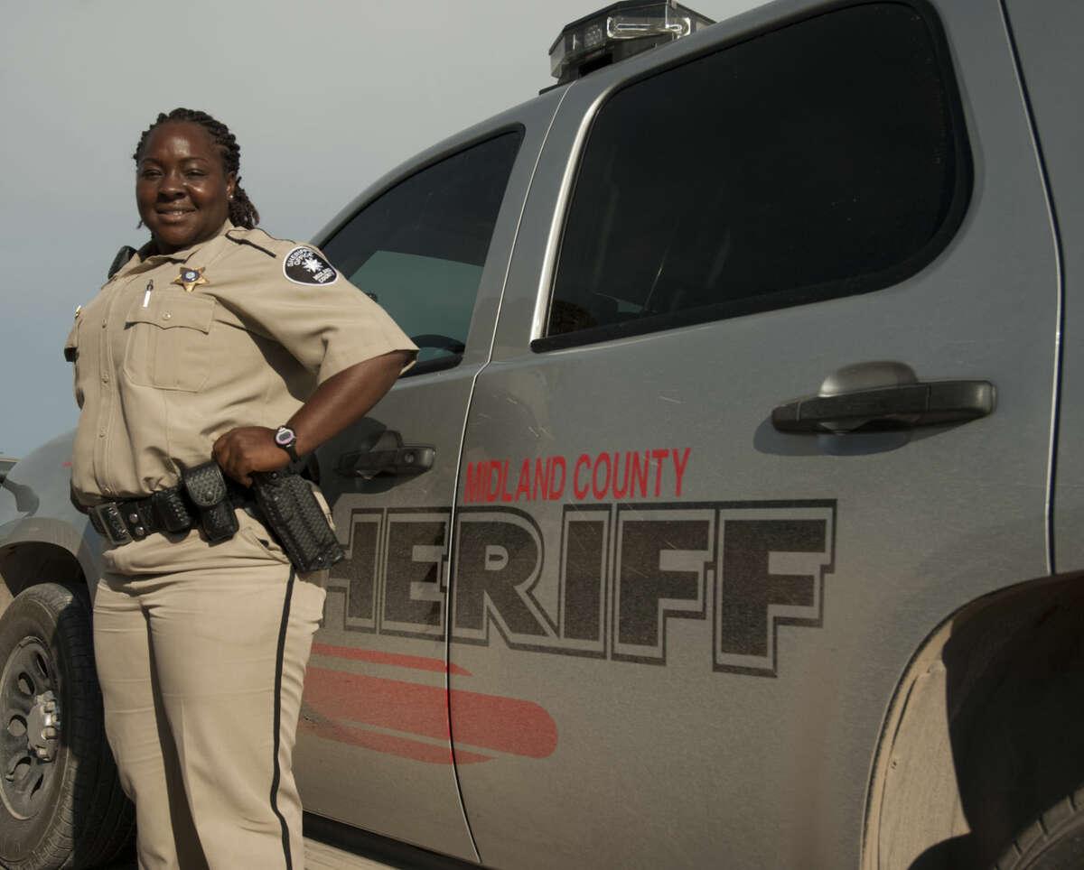 Midland native Kim Mayfield, the first female African-American Sheriff Deputy. Thursday, 6-18-15, Tim Fischer\Reporter-Telegram