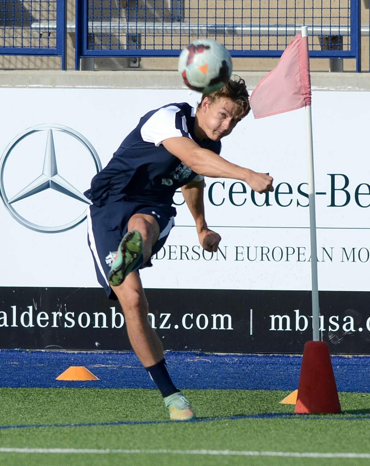 Sockers FC's Andrew Fox during practice Friday, June 19, 2015 at Grande Communications Stadium. James Durbin/Reporter-Telegram