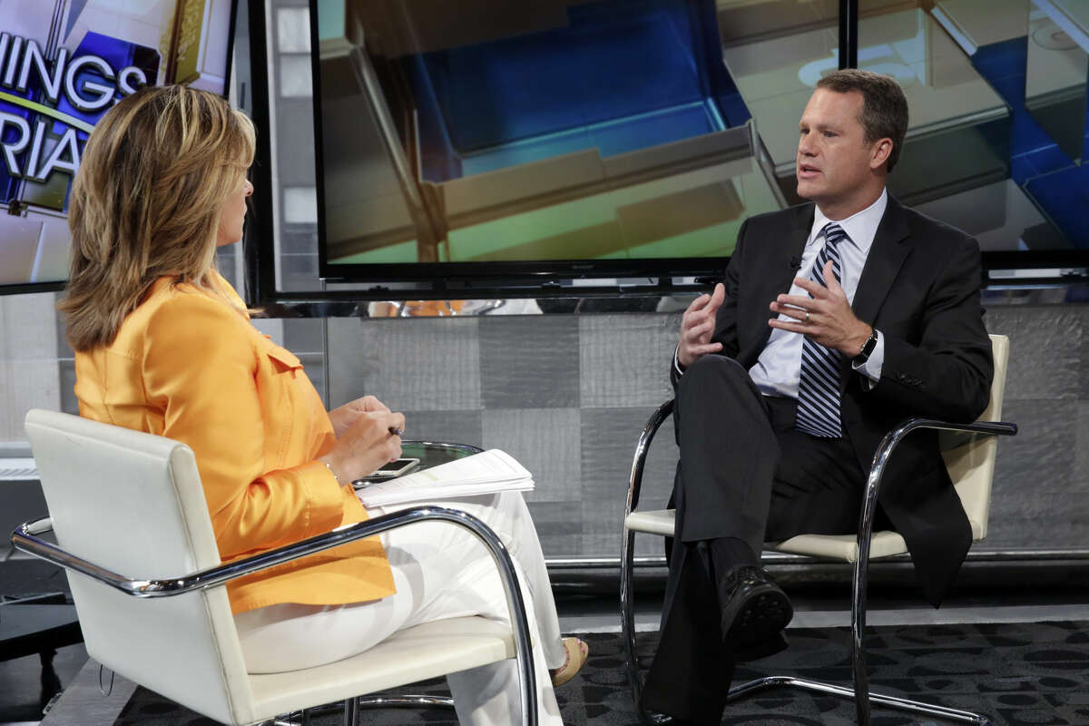 Wal-Mart President & CEO Doug McMillon is interviewed by Maria Bartiromo during her