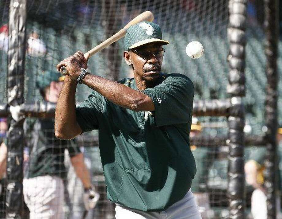Oakland Athletics coach Ron Washington during batting practice before the Texas Rangers welcome the A's on Tuesday, June 23, 2015, at Globe Life Park in Arlington, Texas. (Jim Cowsert/Fort Worth Star-Telegram/TNS)  Photo: Jim Cowsert | Fort Worth Star-Telegram