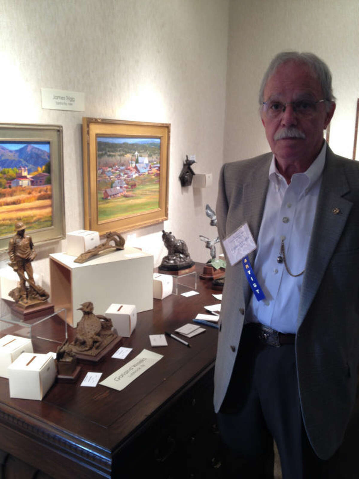 Garland Weeks, a sculptor based in Lubbock, is showing his works at the 36th Annual Invitational Art Show and Sale this week at the Haley Library.