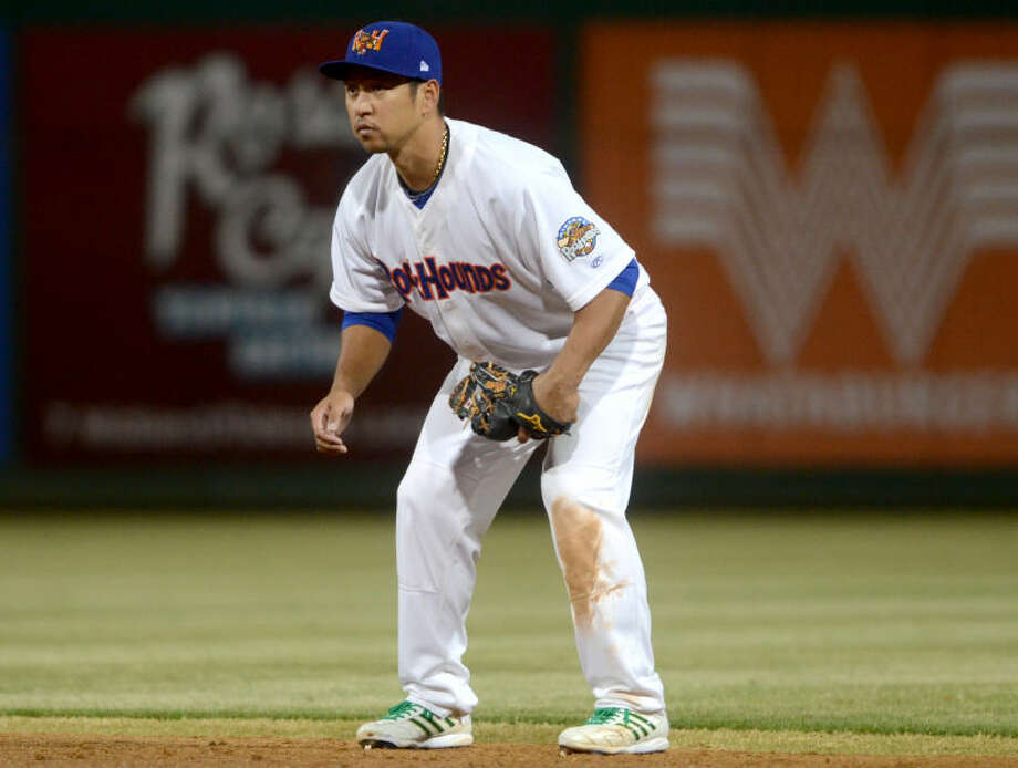 Rockhounds Hiro Nakajima gets ready to field the ball against Corpus Christi on Friday at Security Bank Ballpark. James Durbin/Reporter-Telegram Photo: James Durbin