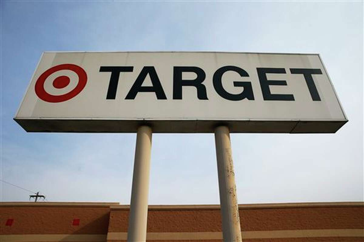 In this Tuesday, March 25, 2014 photo, a sign outside a Target store in Philadelphia is shown. Target said Monday, May 5, 2014, that Chairman, President and CEO Gregg Steinhafel is out, nearly five months after the retailer disclosed a massive data breach that hurt its reputation. The nation's third-largest retailer says Steinhafel has agreed to step down as the company's chairman, president and CEO, effective immediately. He also has resigned from its board of directors. (AP Photo/Matt Rourke)