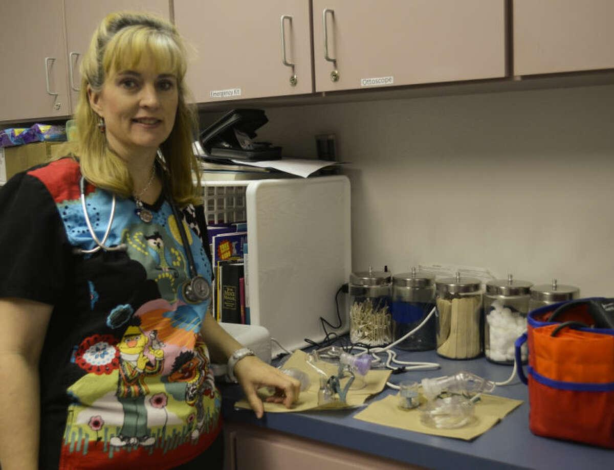 Michelle Hepfer, school nurse at Washington Magnet School. Tim Fischer\Reporter-Telegram