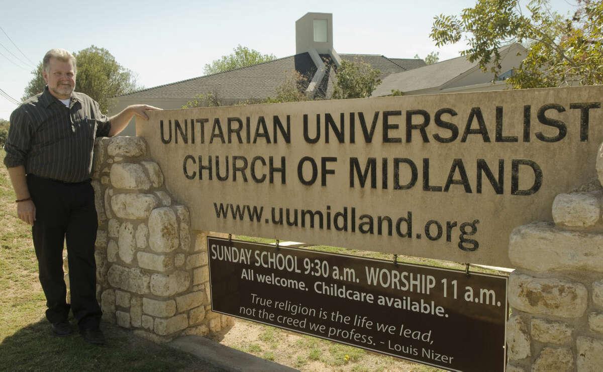 Reverend Thomas Schmidt, pastor at Unitarian Universalist Church of Midland. Photo by Tim Fischer/Midland Reporter-Telegram