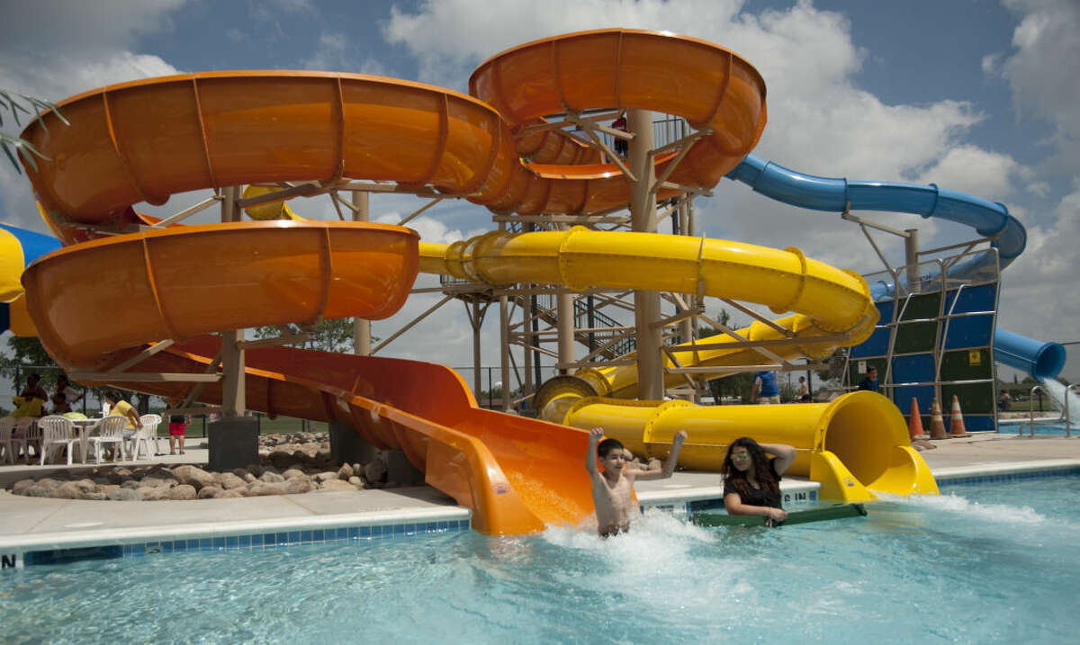 Midlanders and people from around the Permian Basin come out Saturday, 6-6-15, to try the newly redesigned Doug Russell Aquatic Center. Tim Fischer\Reporter-Telegram