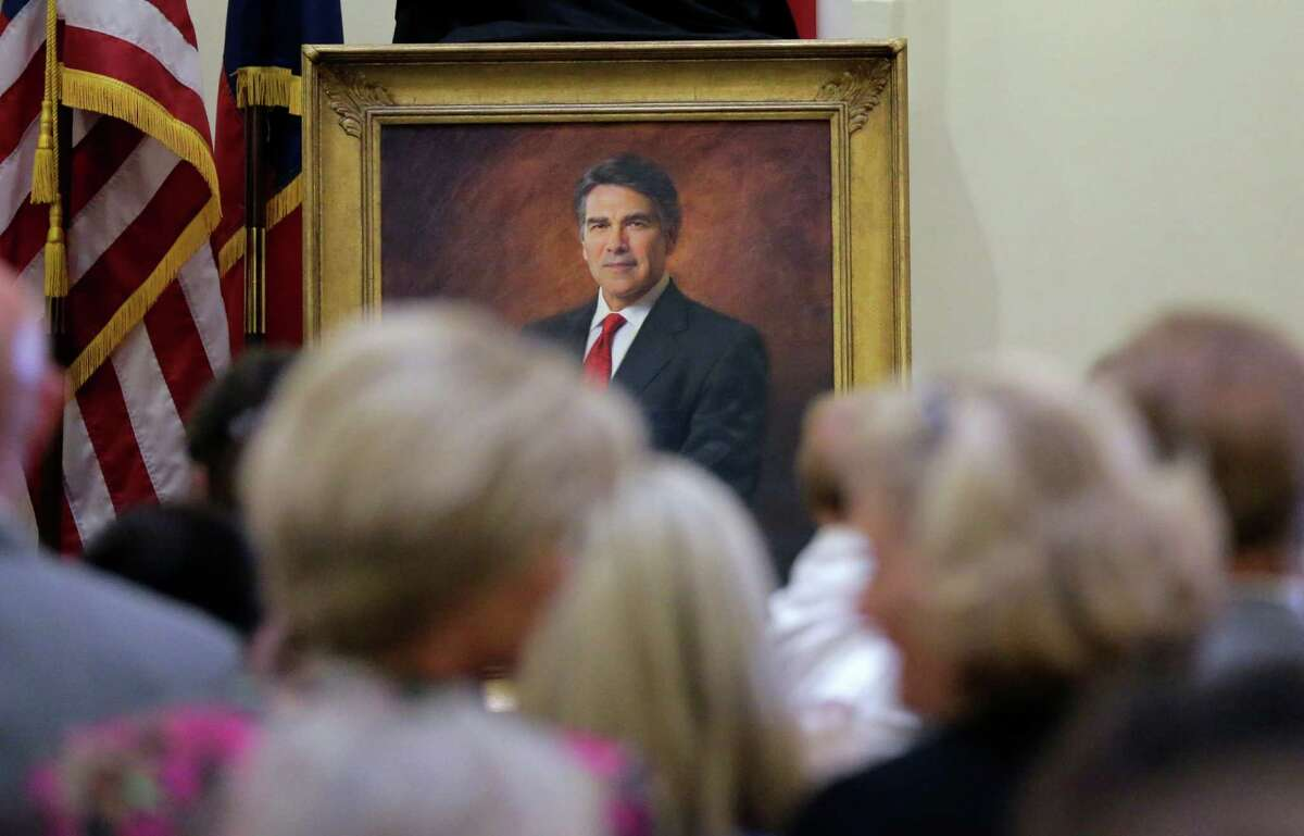 The official portrait of former Gov. Rick Perry is unveiled Friday in Austin. Story on page A3.