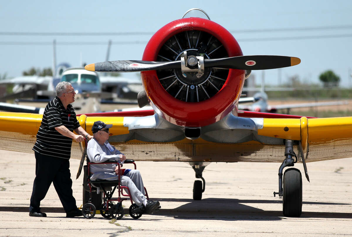 The CAF museum had Memorial Day programs and aircraft on display Monday, May 25, 2015. James Durbin/Reporter-Telegram