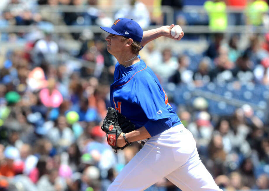 Rockhounds Seth Frankoff pitches against Corpus Christi on Wednesday at Security Bank Ballpark. James Durbin/Reporter-Telegram Photo: James Durbin