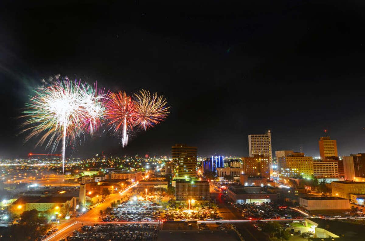 Fireworks show over Midland during the Star-Spangled Salute on Friday. James Durbin/Reporter-Telegram