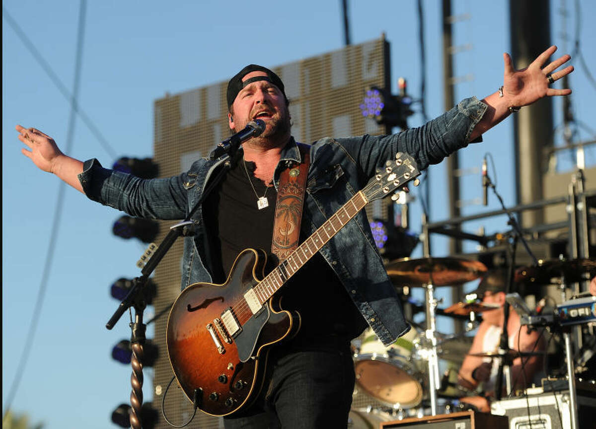 Lee Brice performs on the third day of the 2014 Stagecoach Music Festival at the Empire Polo Field on Sunday, April 27, 2014 in Indio, Calif. (Photo by Chris Pizzello/Invision/AP)