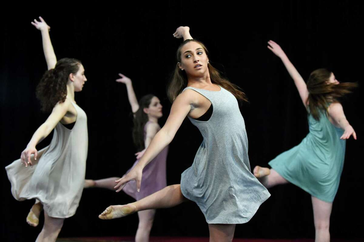 Dancers perform Till I Reach You, choreographed by Brianna Caruccio, during the Lothridge Festival of Dance on Friday, May 6, 2016, at Union College in Schenectady, N.Y. More than 90 performers took to the stage in the Nott Memorial as part of the 26th annual Steinmetz Symposium. (Cindy Schultz / Times Union)