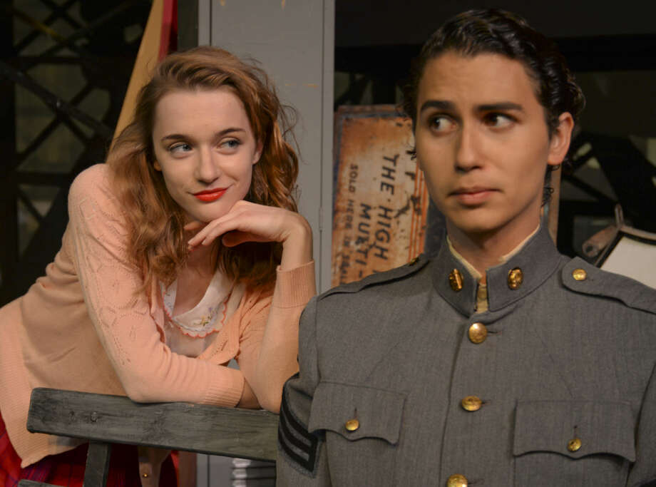 Carly Baker as Lorraine, does her best to flirt with Ben Rosen as Dean in MCT's production of All Shook Up. Wednesday 7-1-15, Tim Fischer\Reporter-Telegram Photo: Tim Fischer