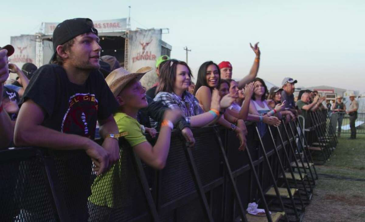 People from across the Permian Basin stopped by Gardendale this weekend to hear several hit country music acts at the 2014 Texas Thunder Country Music Festival. Tyler White/Reporter-Telegram
