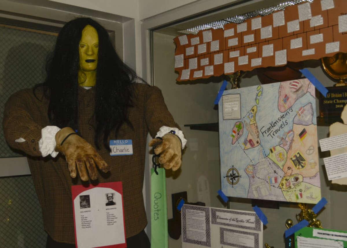 Trinity School seniors made Frankenstein monsters for class. Tim Fischer\Reporter-Telegram