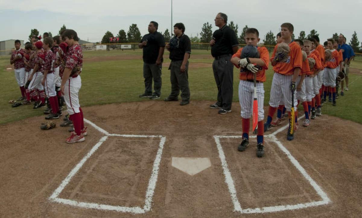 Cardinals vs Mets in Little League City Tournament. Tim Fischer\Reporter-Telegram