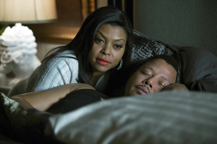 """This photo provided by Fox shows,Taraji P. Henson, left, as Cookie, and Terrence Howard, right, as Lucious, in the special two-hour """"Die But Once/Who I Am"""" season finale episode of """"Empire."""" In Thursday's announcement, Henson received a 2015 Emmy nomination for best actress in a drama series. Photo: Chuck Hodes/AP"""